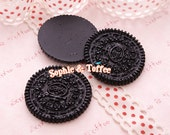 Chocolate Cookie Kawaii Cabochon Decoden - 5pcs
