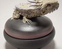 Horny Toad Totem Box
