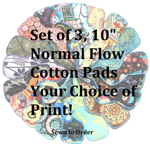 Set of 3 Normal Flow Pads-You Choose Your Print!