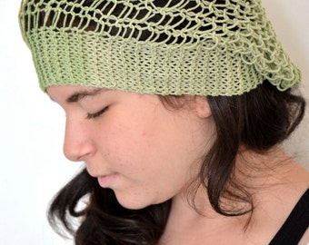 Multicolor Green-Orange-Pink Slouchy Hat For Summer