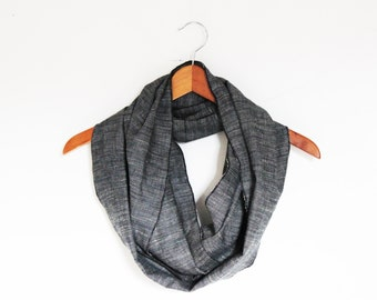 Hemp/Wool Infinity Scarf - GREAT GIFT - Organic Accessory - Eco Fashion