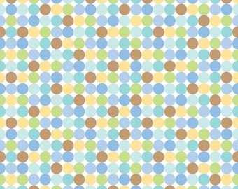 Snips and Snails Dots in Multi  by Doodlebug for Riley Blake - 1 Yard