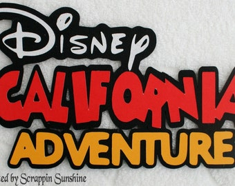 DISNEY California Adventure Die Cut Title - Paper Piece for Premade Scrapbook Pages - SSFF