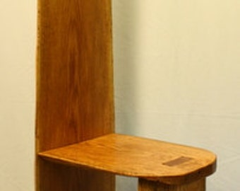 Straight Back Solid Oak Chair