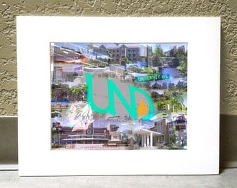 Home of the Fighting Sioux 11 x 14 Matted Print - University of North Dakota, Grand Forks, ND