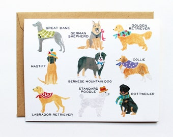 Any Occasion Card - Talls Dog Collection- Set of 8 Cards