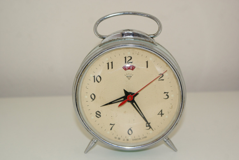 Vintage 1950s Wind Up Alarm Clock
