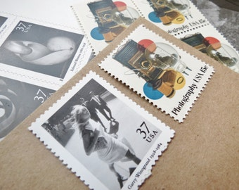 Photography .. Masters .. UNused Vintage Postage Stamps  .. post 20 letters