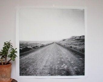 Wyoming Dirt Road Poster Print - large wall art