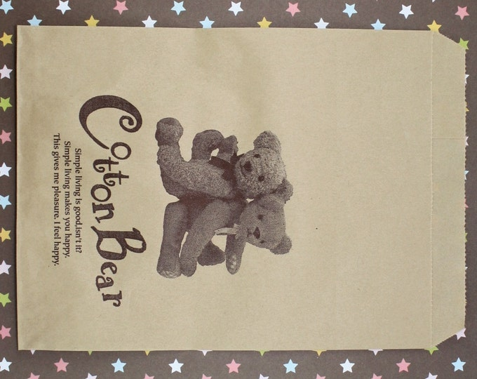 25 Cotton Bear Kraft Paper Bags