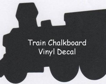 LARGE Train Chalkboard Vinyl Decal - 23 x 35 inch--Kids Chalkboard Decor