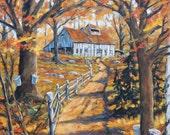 Maple Sugar Bush  Road  Original Large Oil Painting Scene created by Prankearts