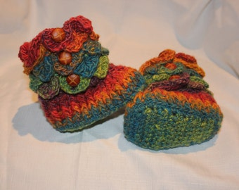 Padraig Slippers Crochet Rainbow Crocodile Stitch Baby Booties, shoes, socks, kids, teenagers, adults - CUSTOM OPTIONS AVAILABLE