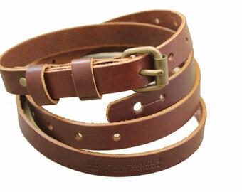Saddle Brown - Oldstyle Guitar Strap