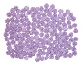 Purple Rose Cabochons 10mm, pack of fifty