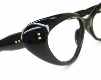 Vintage Black Cats Eye Eyeglasses Sunglasses Frame