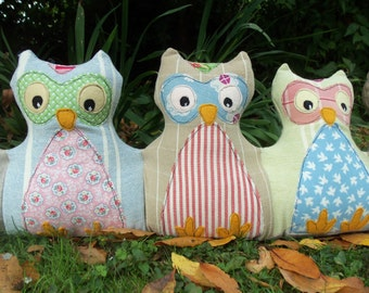 Baby Owls Draught (Draft) Excluder pdf pattern instant download