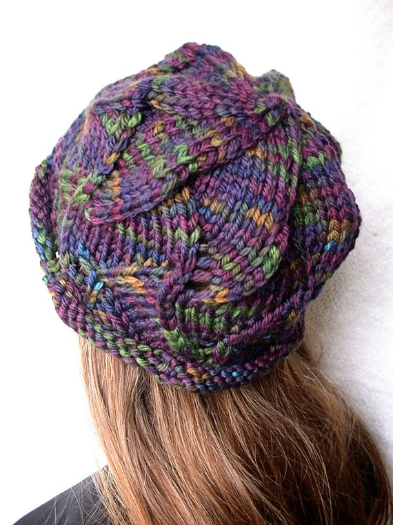 Pattern Knitted Swirl Hat Bulky