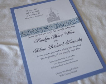 Fairytale castle wedding invitation (SAMPLE)