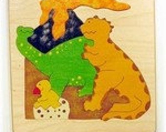 Wooden Dinosaur Puzzle for Toddlers - Preschool Age children, or Kindergarteners - in stock, ready to ship