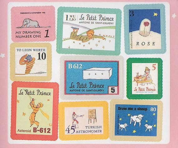 Little prince sticker stamps petit - Sticker petit prince ...