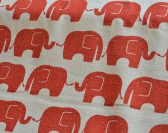 Red and white elephant fabric from Japan Kokka Half Yard