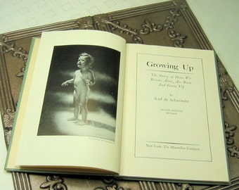 Vintage Book- Growing Up- Story of How We Become Alive- Circa 1950's