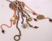 Bohemian One of A Kind Copper and Chain Statement Necklace