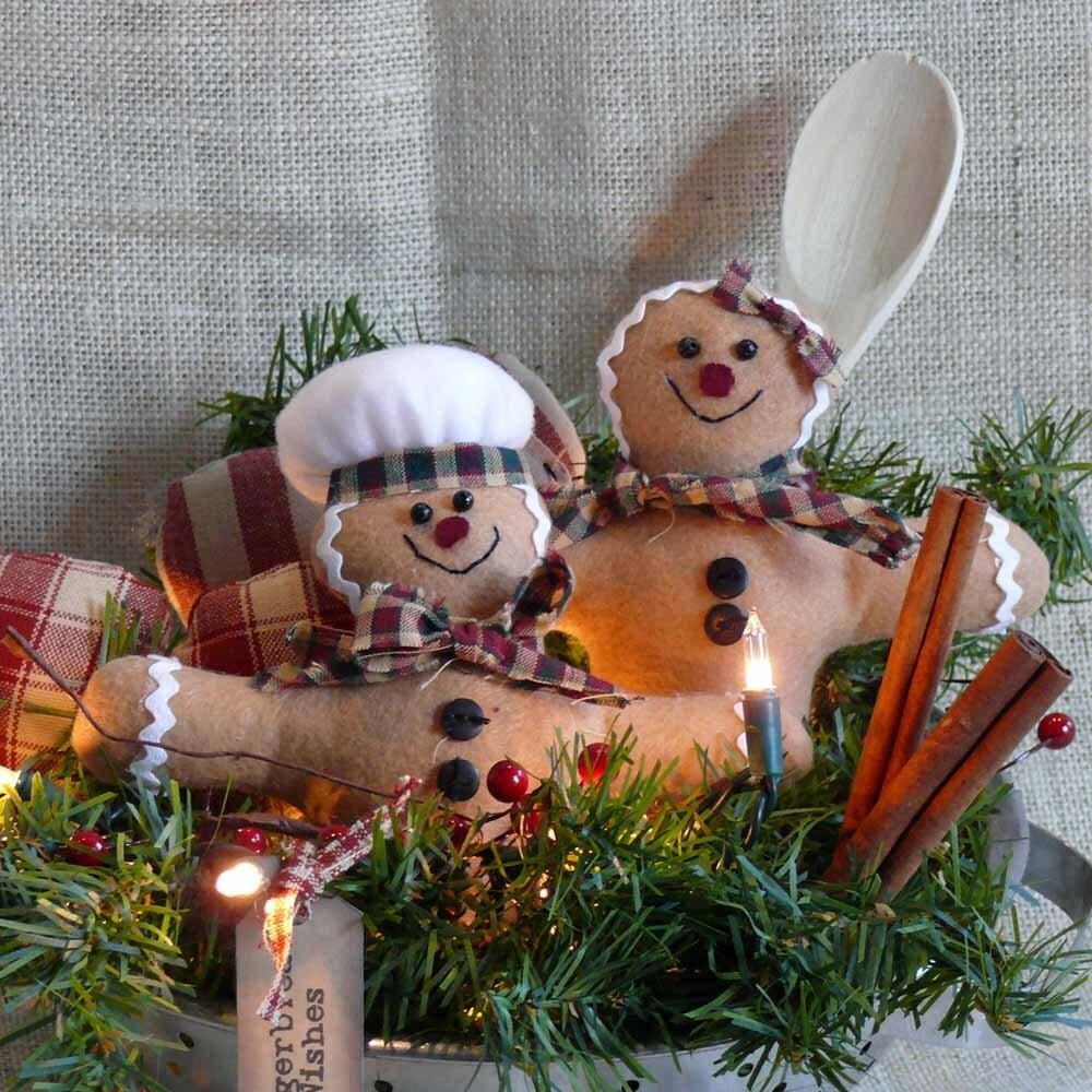 Lighted Gingerbread Man Centerpiece
