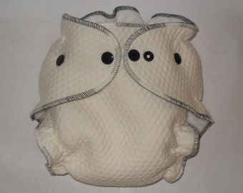 Zorb 2 Fitted diaper with espresso thread and black snaps