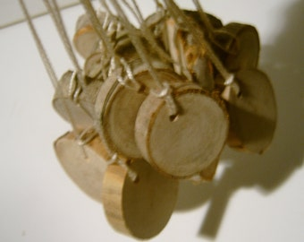 500 Hang Tag Blanks Unfinished Wood Tree Branch Slice 1  To 1.5  inch tags