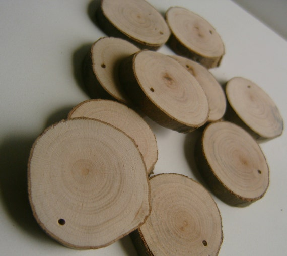 200  Blank Tree Branch Slices 1.5 to 2  inch Top Drilled