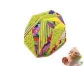 Geometric Brooch - Handmade Polymer Clay Yellow Triangles Brooch