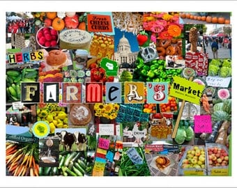 Farmers Market Collage print