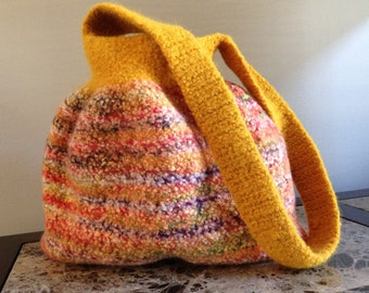 Handcrafted Wool Felted Handbag