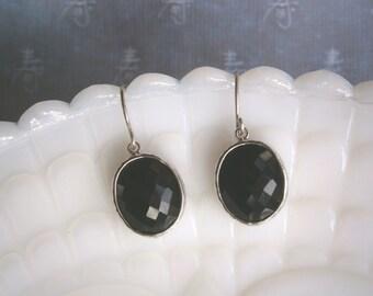 Black Earrings, Silver Earrings, Best Friend Birthday, Jewelry Under 25, Gift for Her