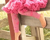 Pink Flowers and Dots Baby Toddler Leg Warmers