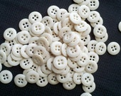 See Shop Announcement for discount code - Cream/Off White Buttons - 9/16 inch - YOU PICK QUANTITY - 50 thru 400