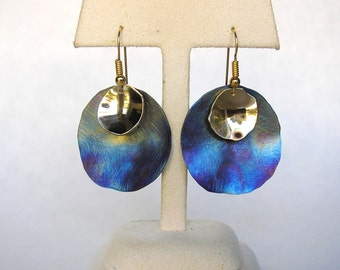 Blue Moon Titanium Earrings