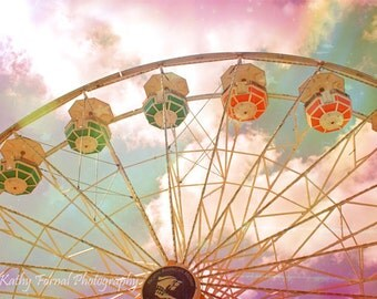 Carnival Ferris Wheel Prints, Baby Girl Nursery Decor, Carnival Ferris Wheel Art, Ferris Wheel Carnival Photography, Ferris Wheel Art Prints