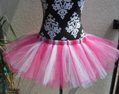 """Candy Stripes Pink and White Tutu - Adult Women's 31"""""""