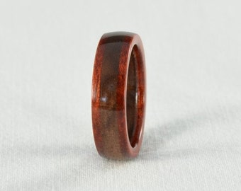 Wood Ring - Bloodwood and Walnut Wood Ring - All Natural - Wedding Band, Wedding Ring, or Engagement Ring - Handmade