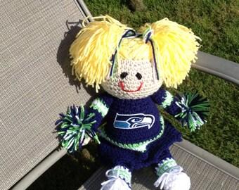 Seattle Seahawks  Crocheted Doll