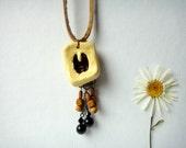 Deer Animal Spirit Totem Necklace native american tribal paw print dream catcher woodland animal jewelry