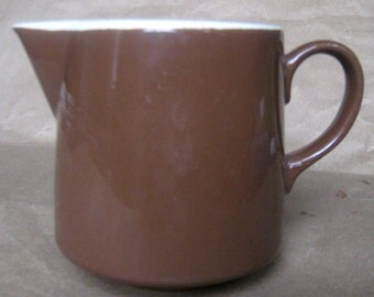 Vintage Brown Ceramic Creamer, Made in USA