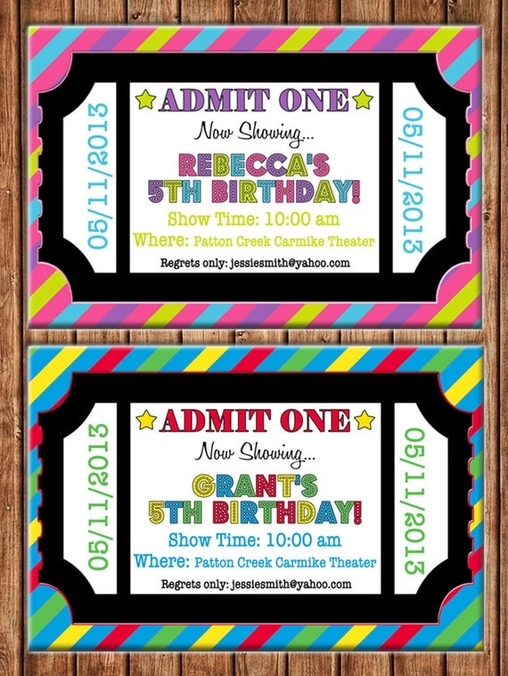 items similar to boy or girl movie theater theatre ticket