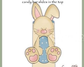 Boy Bunny Candy Bar Slider for Easter - Digital Printable - Immediate Download