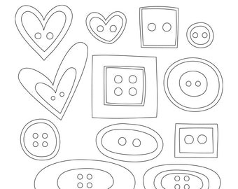 Sunday Doodles Vo2 Digital Stamps Clipart Clip Art Illustrations - instant download - limited commercial use ok