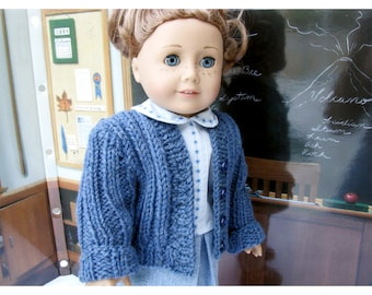 Back to School Set for American Girl Doll, 18 Inch Doll, Sweater, Skirt, and Blouse