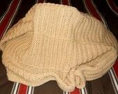 Buff Crochet Afghan